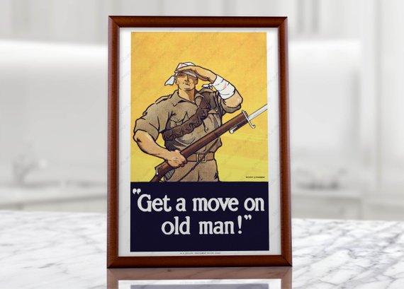 Australian Soldier Propaganda Poster