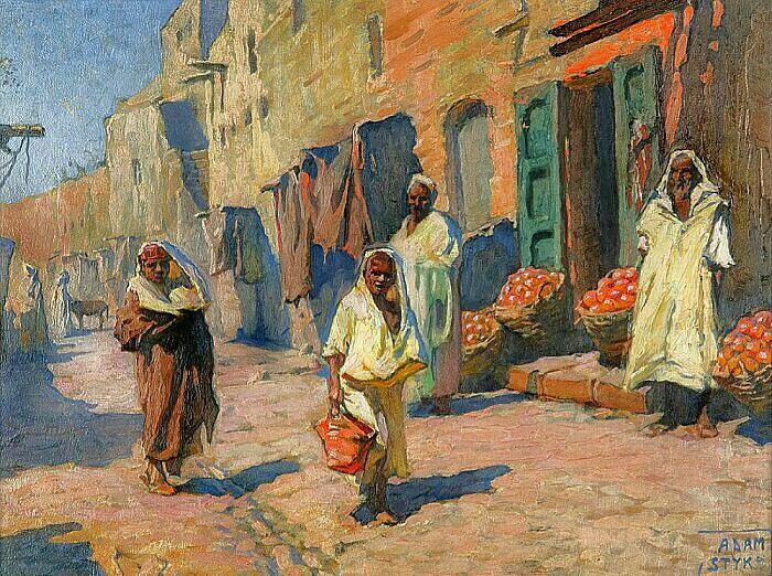 Peinture d 39 alg rie peintre polonais adam styka 1890 - Peinture satinee algerie ...