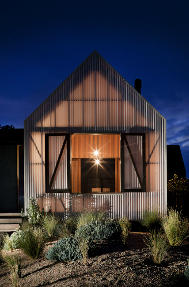 Backlit structure and transparency, warmly lit timber | Jackson Clements Burrows