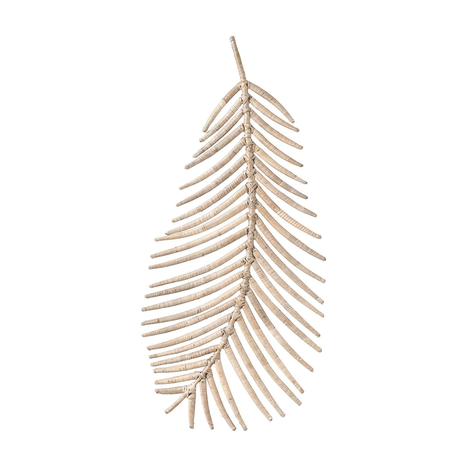 Beige Rattan Palm Leaf Wall Accent By Sprinkle Bloom Walmart Com Rattan Palm Accent Wall Wall Accents Decor