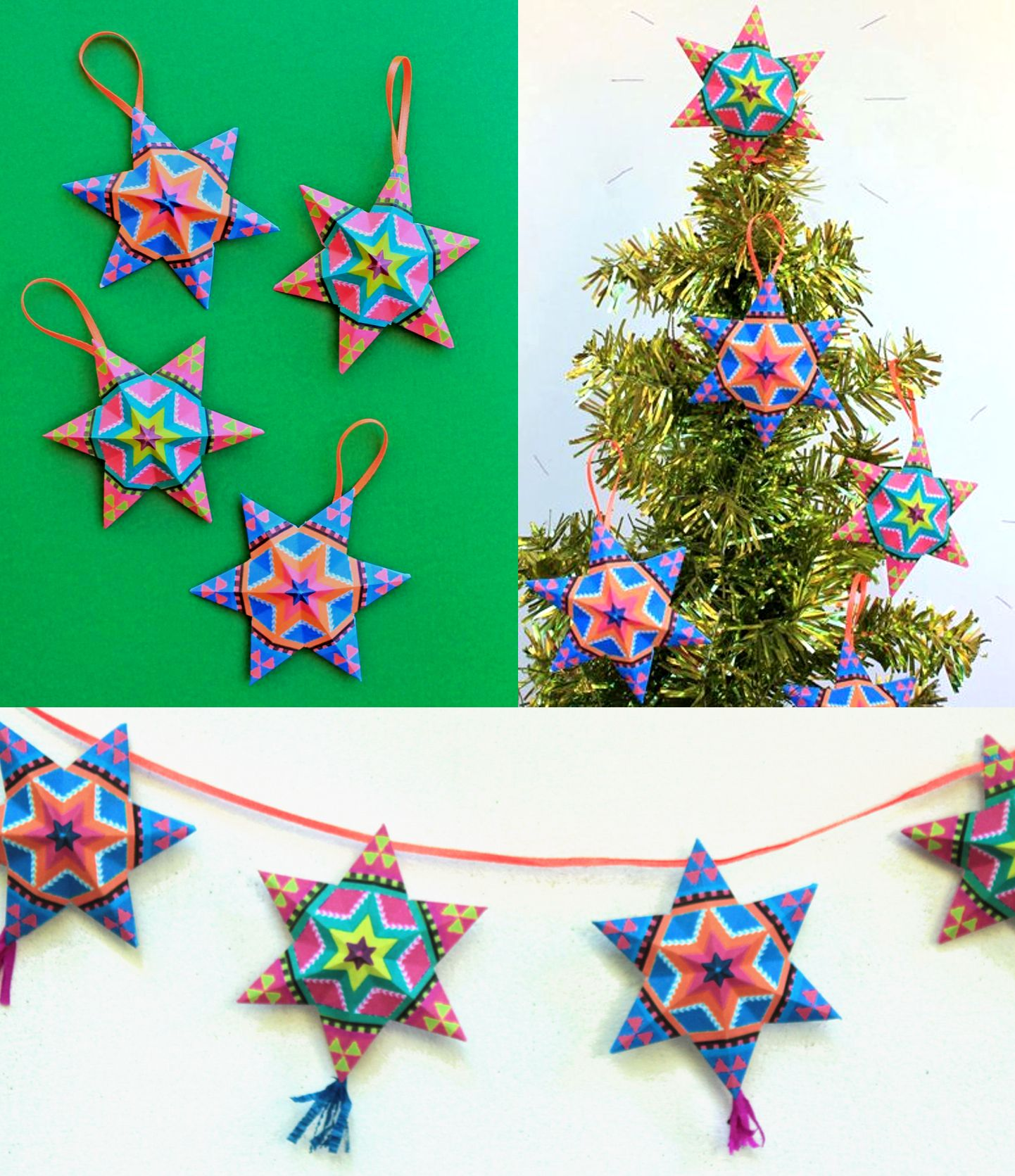 printable paper star template by happythought star decorations mexican christmas decorations holiday decor