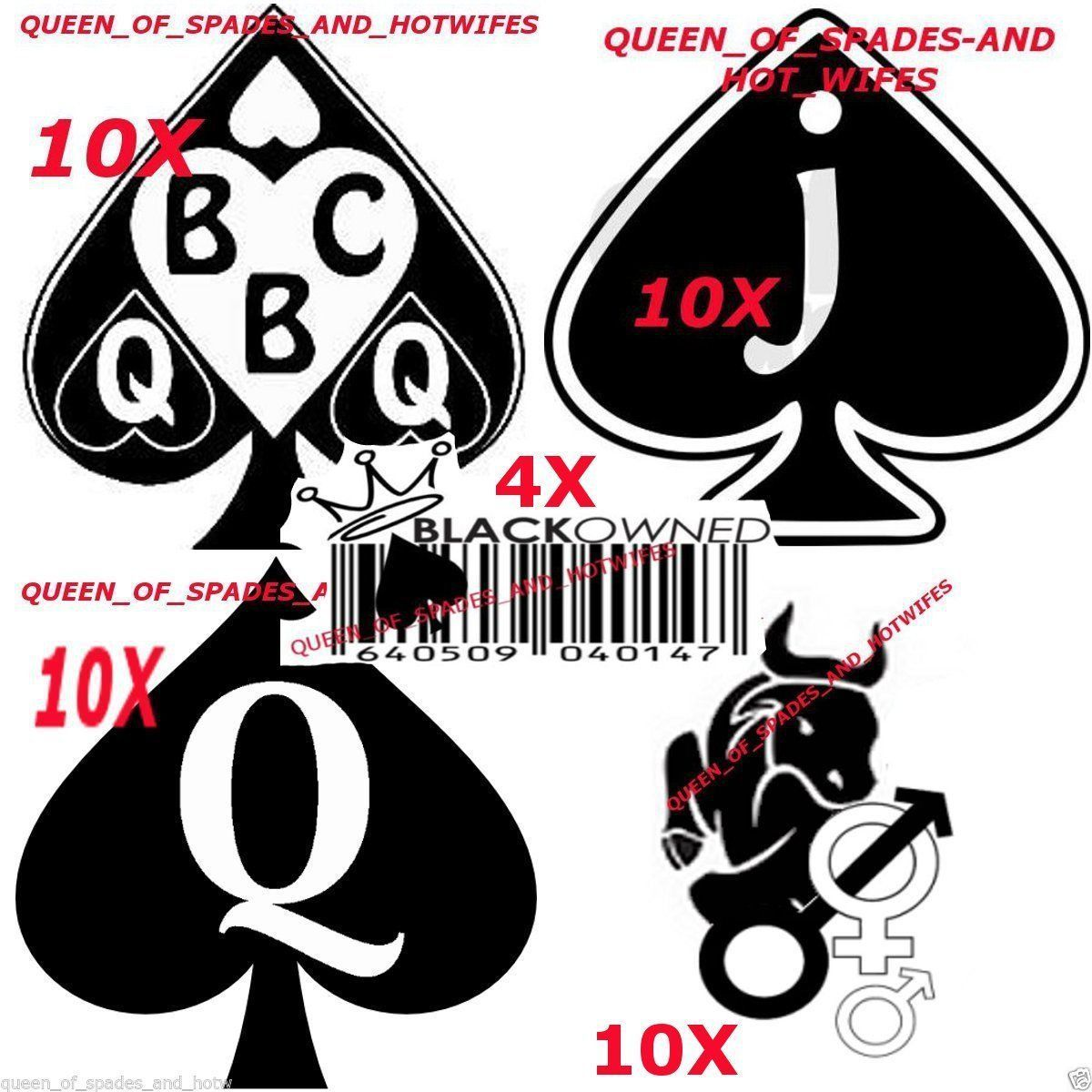 44pc Bbc J Queen Of Spade Swinger Black Owned Hot Temporary Tattoo Fetish