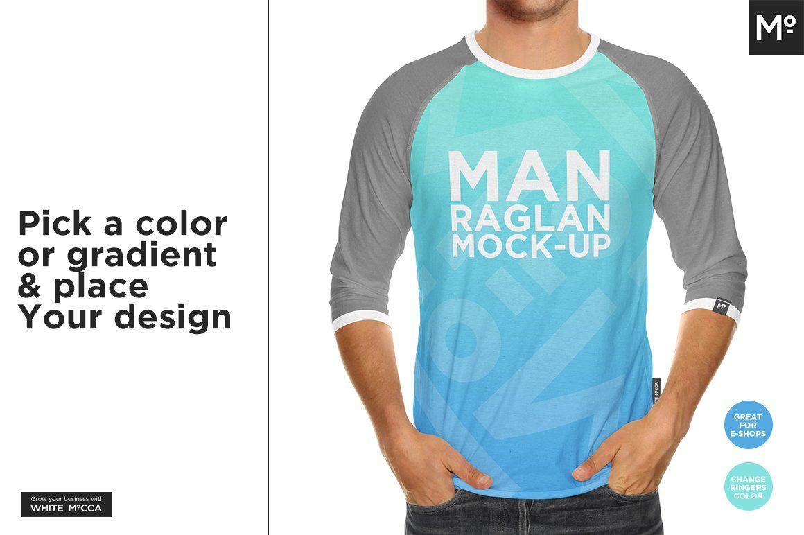 Download Raglan 3 4 Shirt Mock Up Mocking Mockup 4th Shirts
