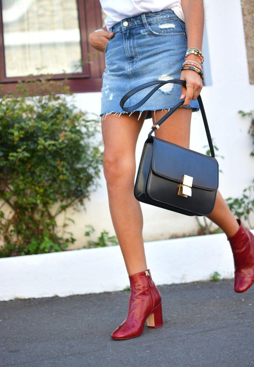 comprare popolare 7a2c5 5488a Burgundy boots from Zara #booties Stivaletti bordeaux di ...