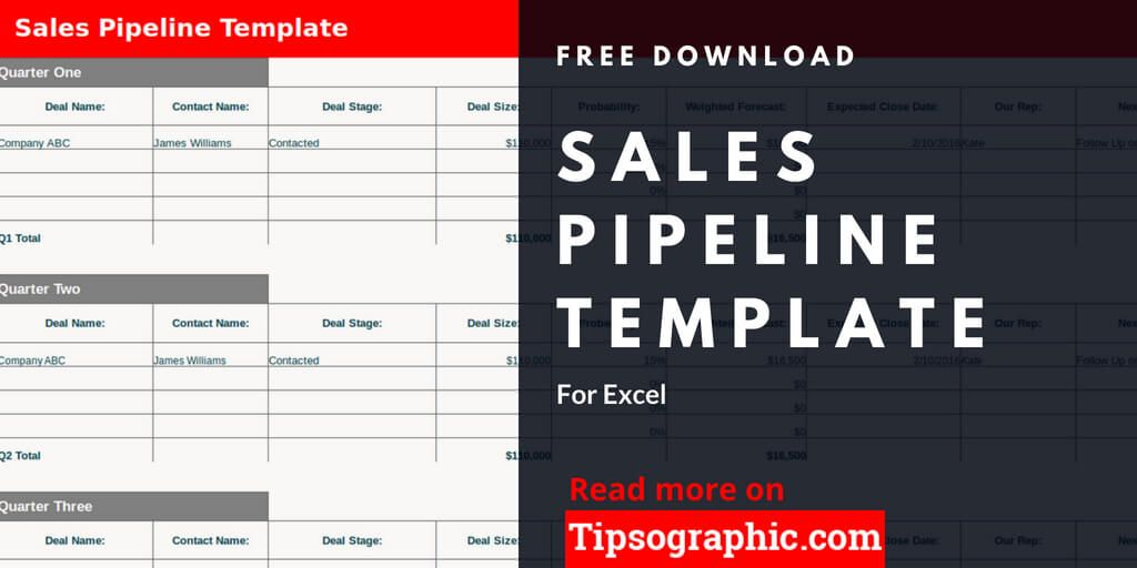 Sales Pipeline Template For Excel Free Download Tipsographic User Story Template Sales Template User Story