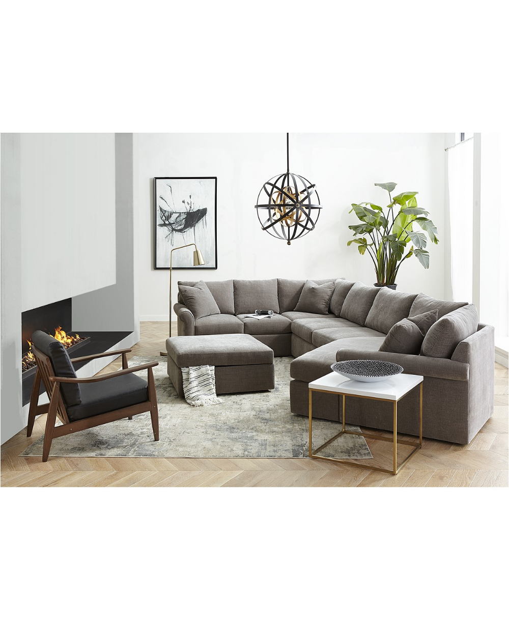 Furniture Wedport 3 Pc Fabric Modular Sectional Sofa With Cuddler Created For Macy S Reviews Furniture Macy S Fabric Sectional Sofas Sectional Sofa With Chaise Modular Sectional Sofa