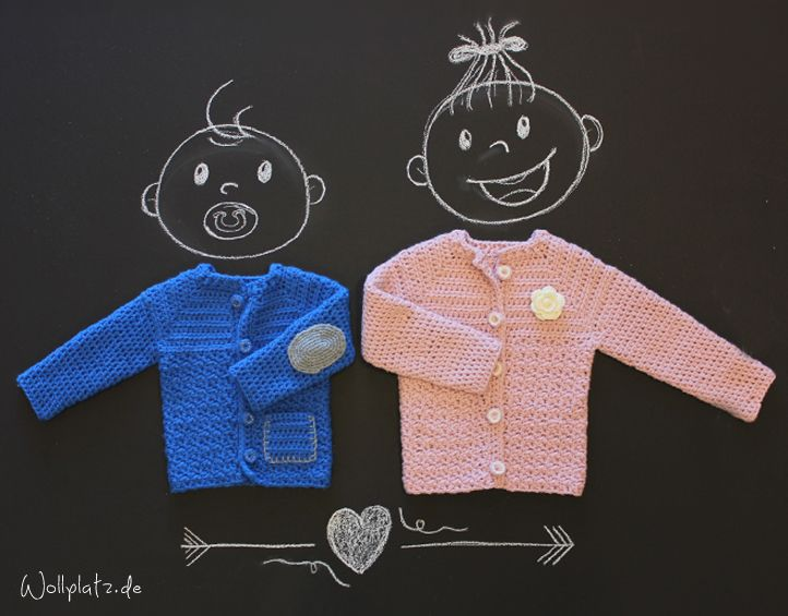 Babyjacke häkeln - Phildar Partner 6 | Häkeln | Pinterest ...