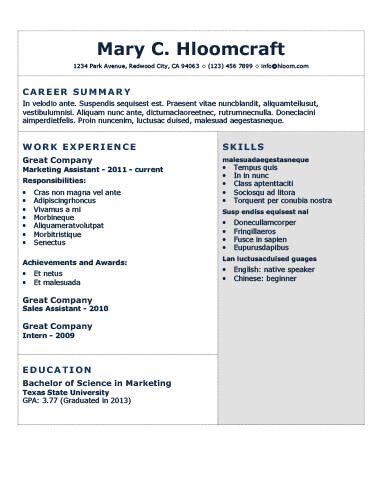 Combination Resume by Hloom CV Pinterest Outlines, Bald