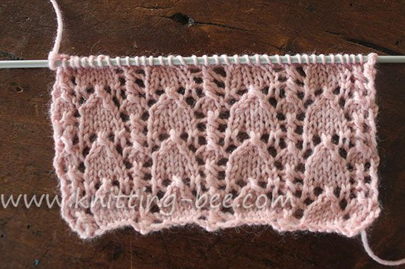 Knitting Stitches Abbreviations : The snowdrop is a beautiful classic lace knitting stitch