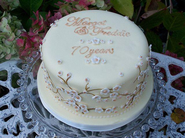 70th Wedding Anniversary Cake In 2019