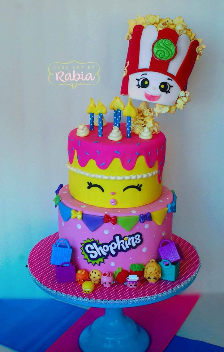Shopkins cake so cute birthday partys Pinterest Shopkins