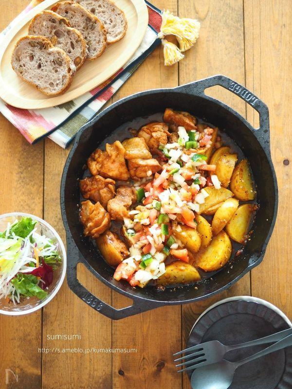 Photo of 家飲みの主役!LODGEスキレットでBBQチキンのサルサソース by sumisumi / レシピサイト Nadia | ナディア – プロの料理家のおいしいレシピ