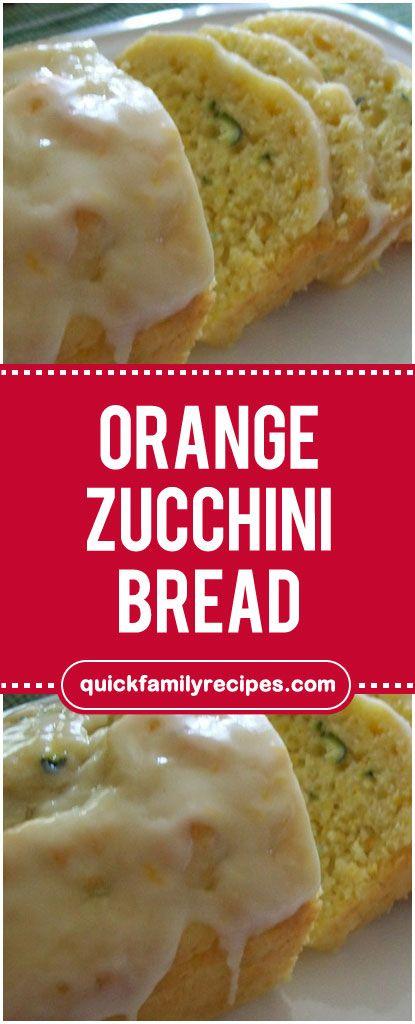 Orange Zucchini Bread Zucchini Bread Orange Zucchini