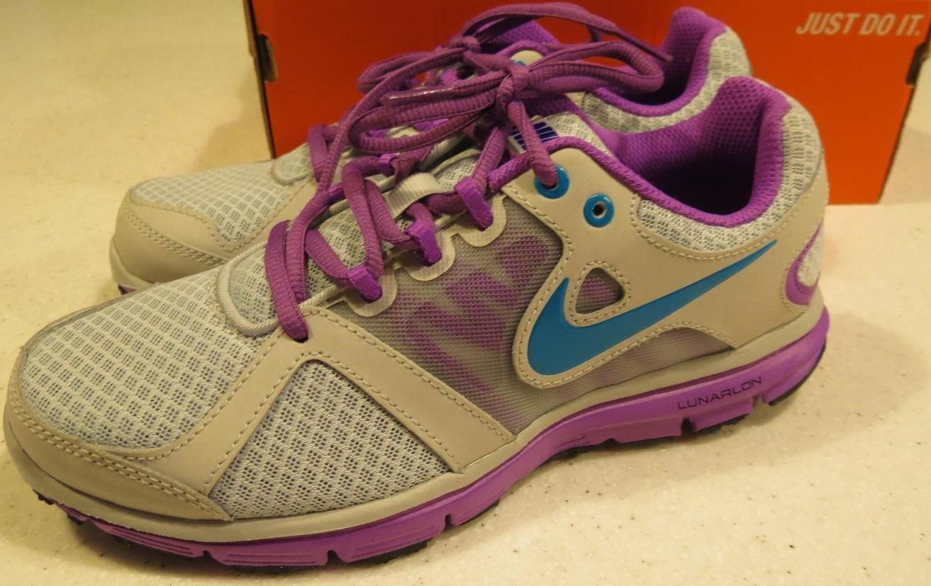 buy online eb80c 00377 NIKE Lunar Forever 2 Gray Purple Lightweight Athletic Shoes, sz womens 6 ~  NEW!