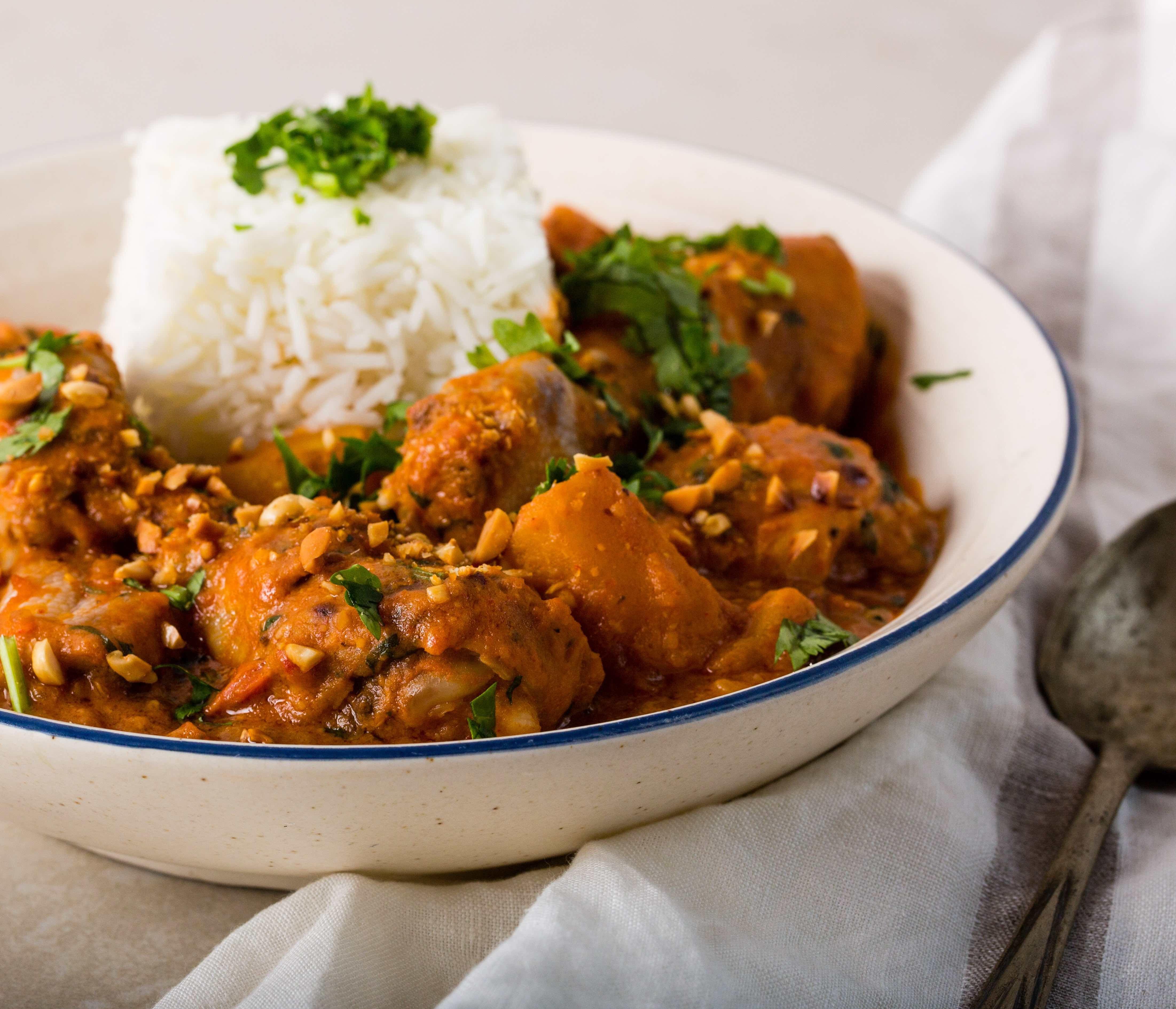 African chicken peanut stew pika chakula peanut stew