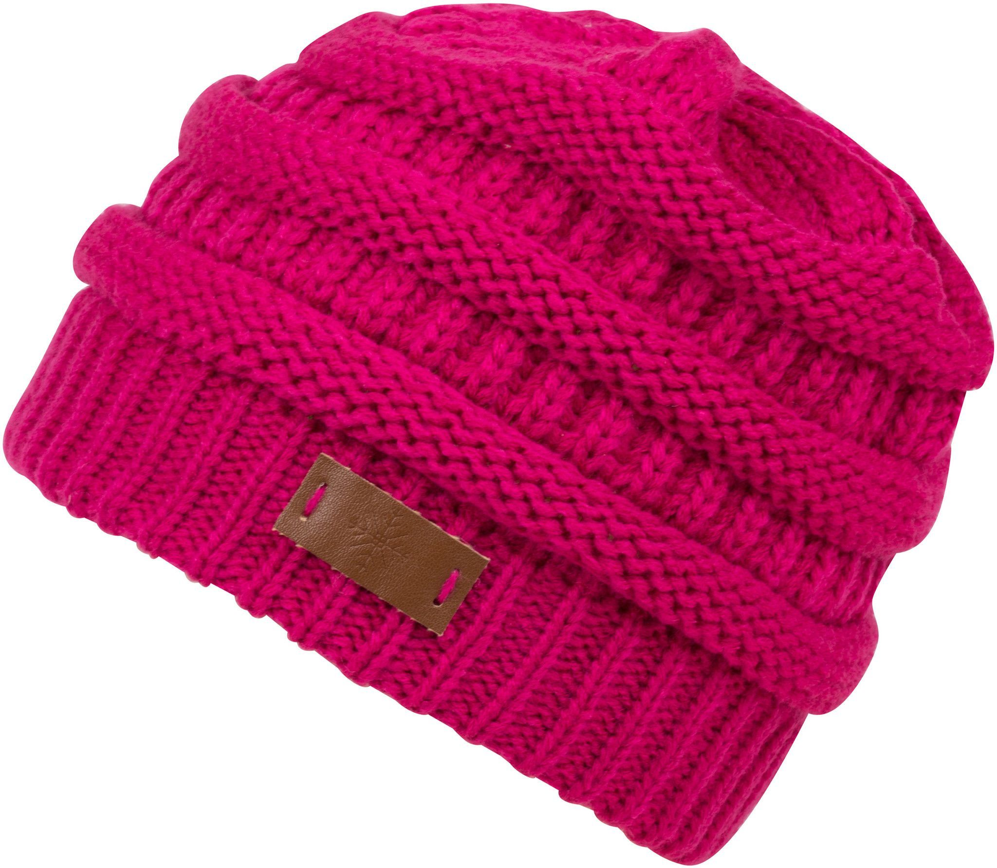 Sakkas Beehive Cable Knit Modern Beanie