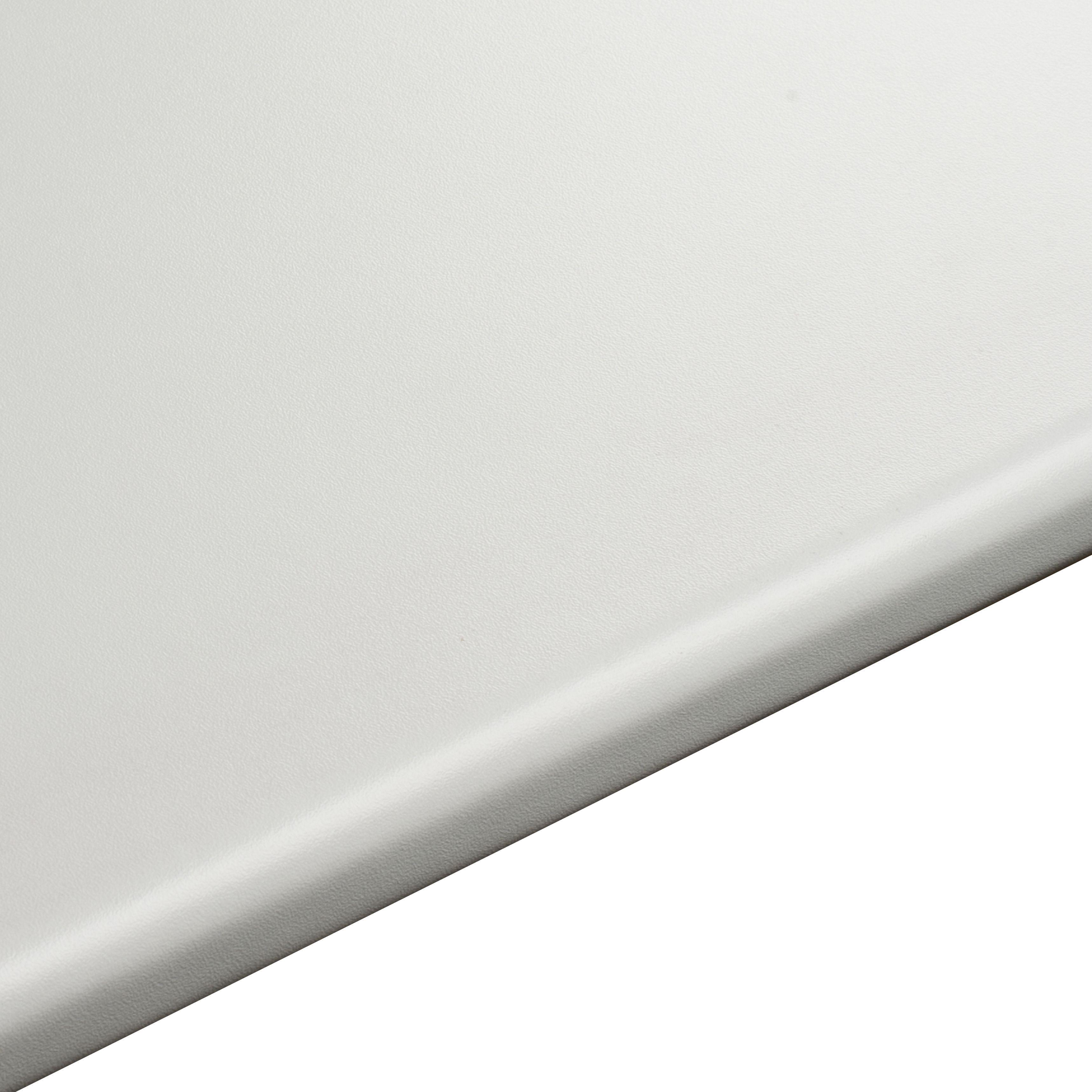 28mm B&Q White Laminate Round Edge Kitchen Worktop
