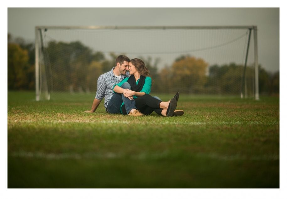 Soccer engagement session by ZTS Photo Des Moines, Iowa http://www ...