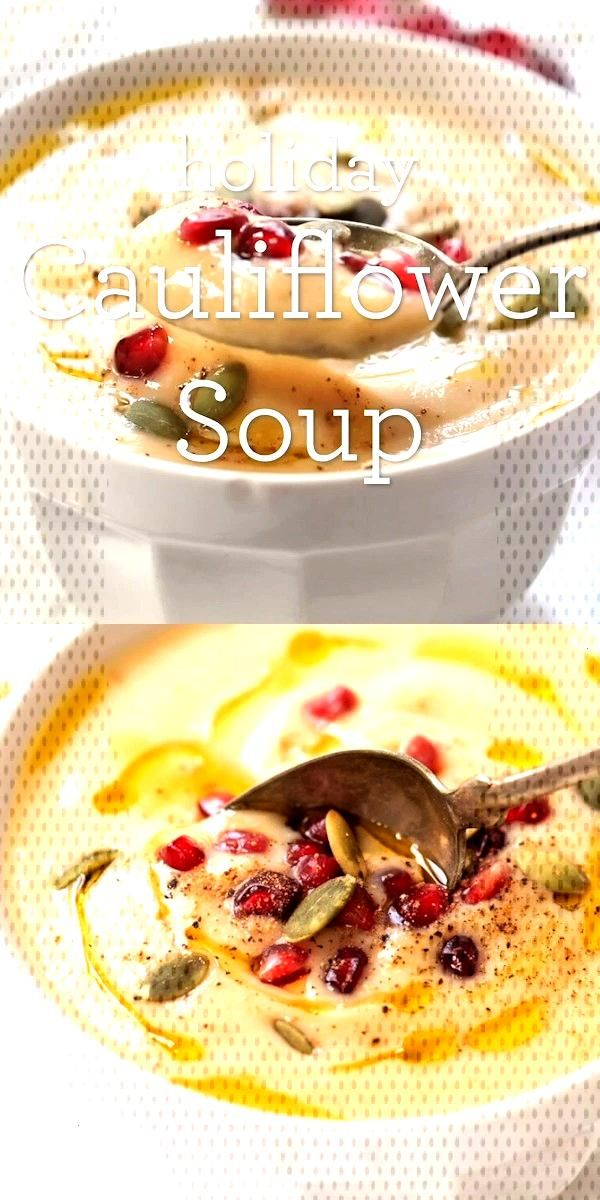 Healing Cauliflower Holiday Soup - Alyssa | Simply Quinoa - Healing Cauliflower Holiday Soup