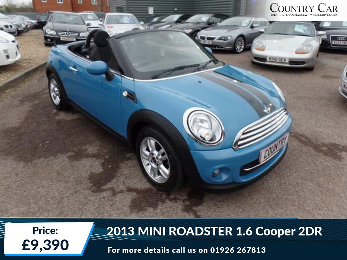 9,390 | 2013 63 MINI ROADSTER 1.6 COOPER 2DR Call Us On: 01926 ...