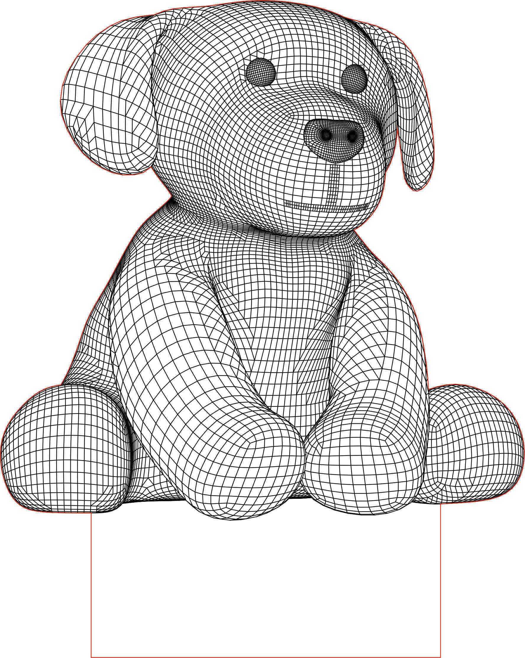 Dog 3d Illusion Led Lamp Vector File 3d Led Night Light 3d Illusion Lamp Woodworking Patterns