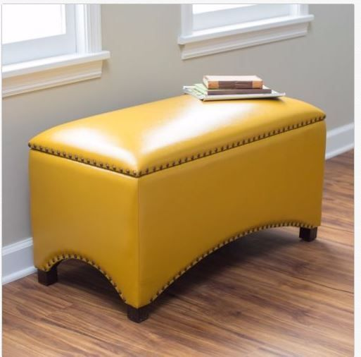 Tremendous Leather Storage Bench Seat Bedroom Ottoman Entryway Hallway Gmtry Best Dining Table And Chair Ideas Images Gmtryco