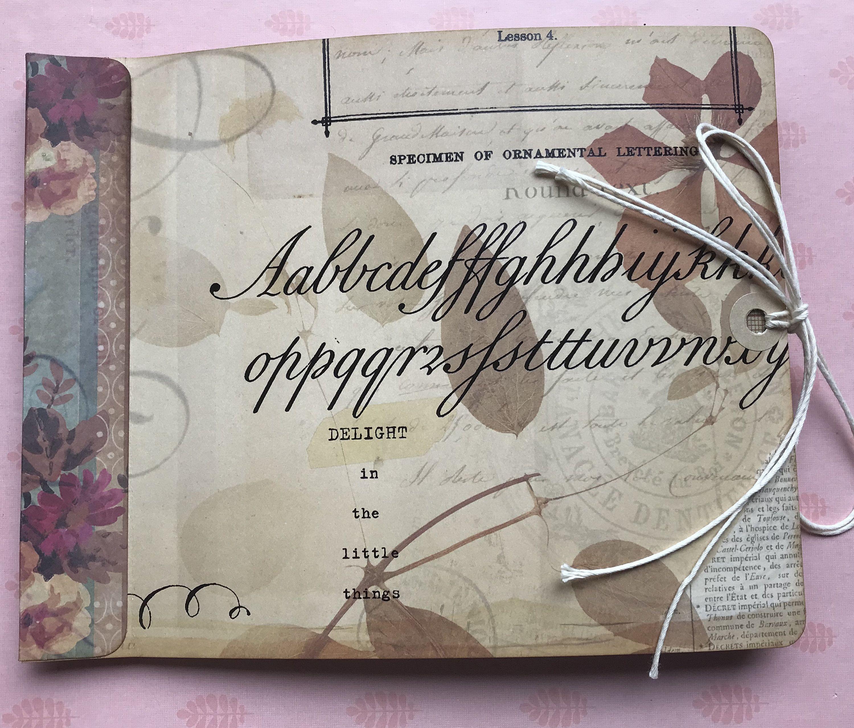 Handmade Vintage Birds And Flowers Paper Bag Journal Handmade Journal Handmade Tags Vintage Journal