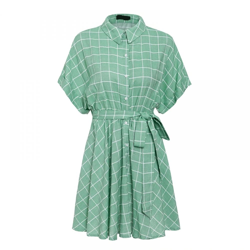 Cotton Light Green Plaid Dress Price Us 30 38 Free Shipping Hashtag4 Green Plaid Dress Plaid Summer Dress Plaid Dress [ 1000 x 1000 Pixel ]