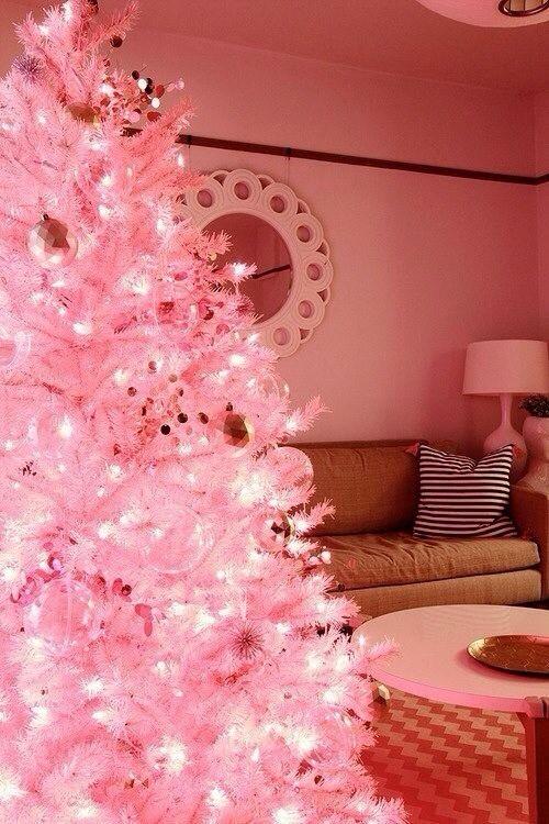 Pink Christmas Tree, yes! Season\u0027s Greetings Pinterest Pink