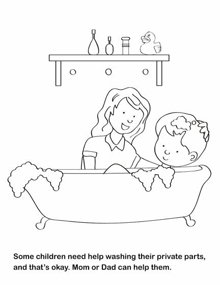 A coloring book geared for teaching children about sexual