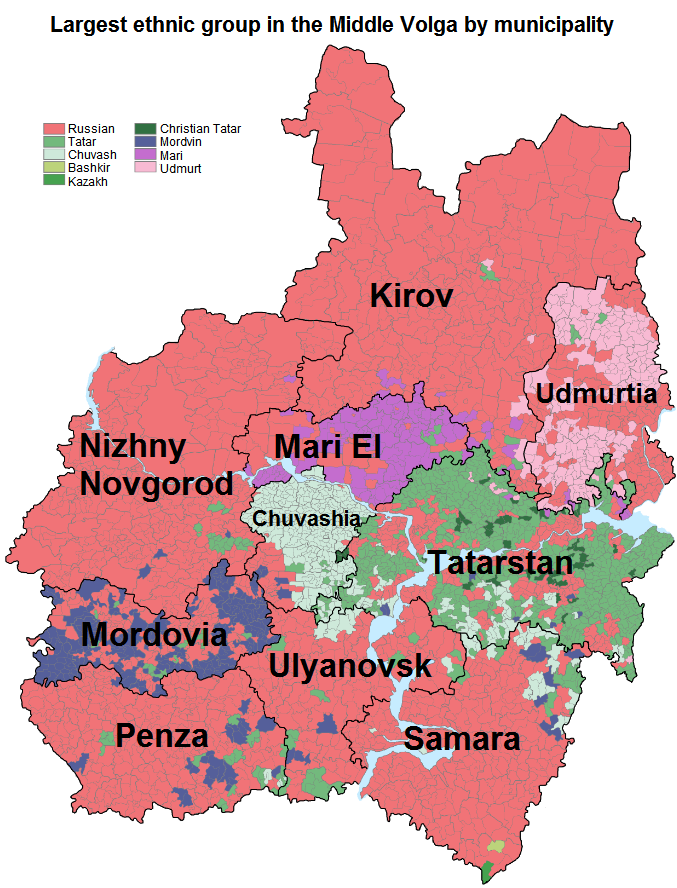 Largest Ethnic Groups In The Middle Volga Area Russia Russia