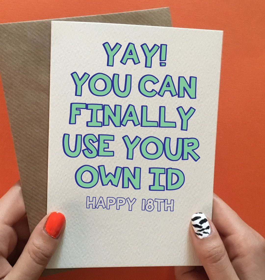 Fake ID in 2020 18th birthday cards, Gifts for 18th