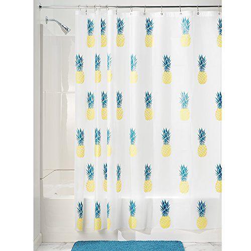Interdesign Pineapple Pvc Free Peva Shower Curtain 72 X