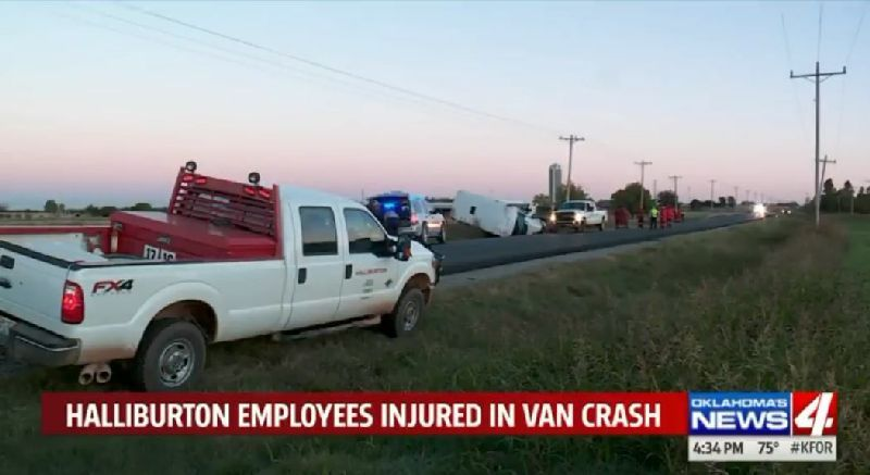 Six Injured After Halliburton Bus Crashes In Oklahoma | Oilfield