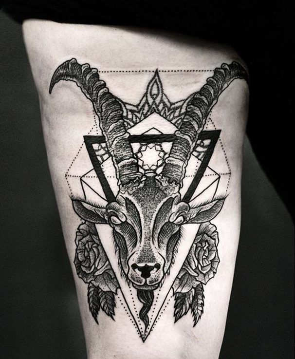 capricorn tattoo art pinterest steinbock brust. Black Bedroom Furniture Sets. Home Design Ideas