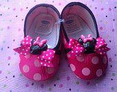 Sequin Hello Kitty Rhinestone Glam Baby Crib Shoes-Hot pink & Lime green. $35.00, via Etsy.
