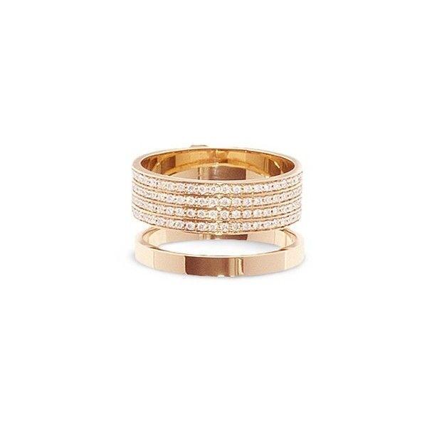 Repossi Berbère Two-Row Diamond Ring in 18K Rose Gold uLDs4qJmoR