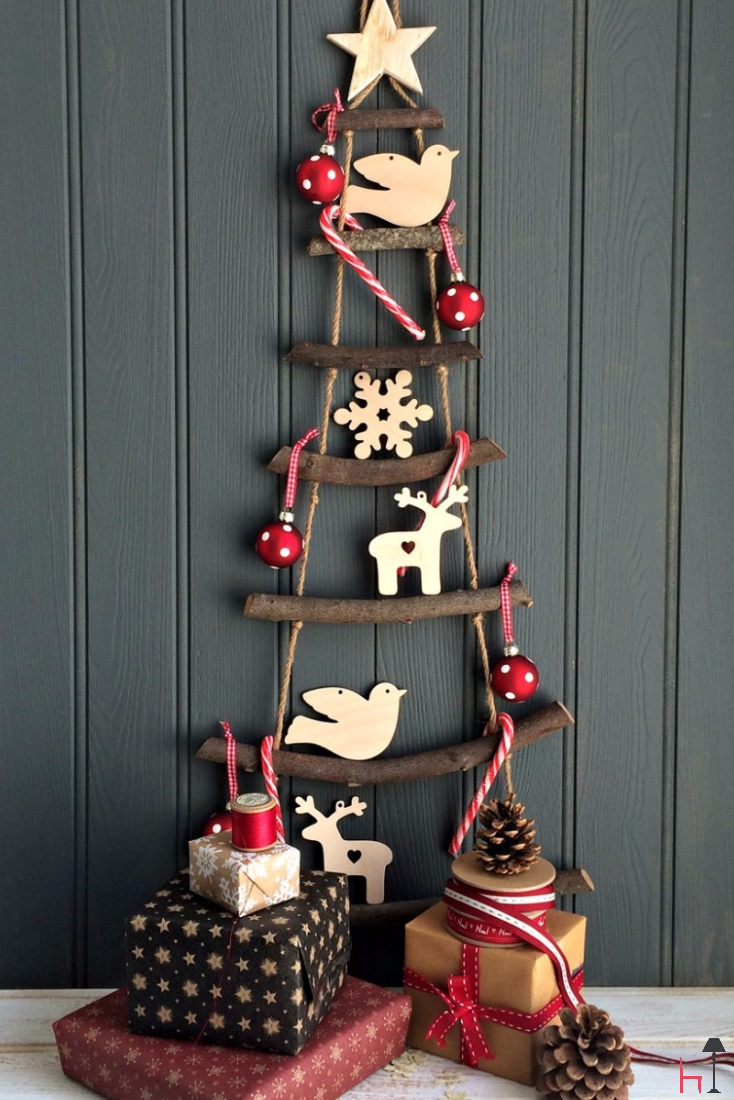 This creative and modern take on the classic christmas tree is a perfect addition to any smaller space in your home.