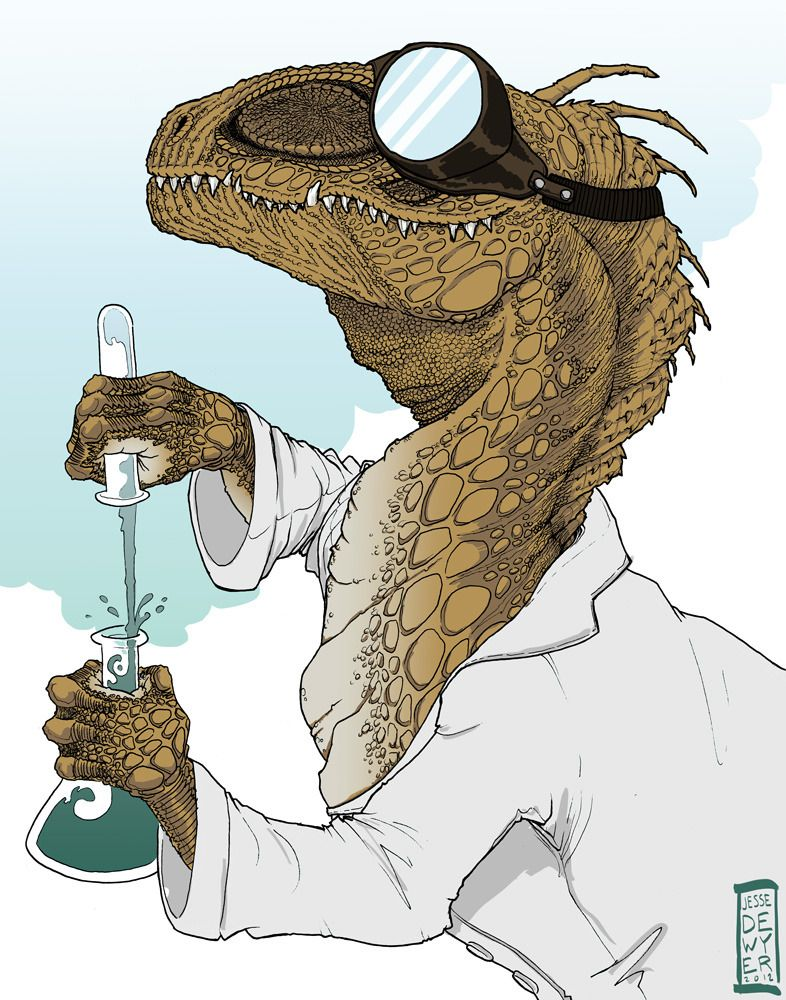 Fuck Yeah, Dinosaur Art! — This is my Dr. Dinosaur (from the comic series... #dinosaurillustration