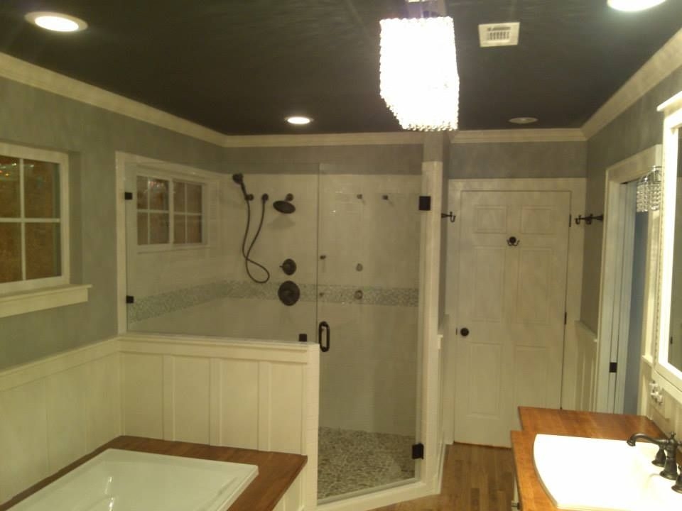 The Custom Shower Is Set Up Spaciously For Two People