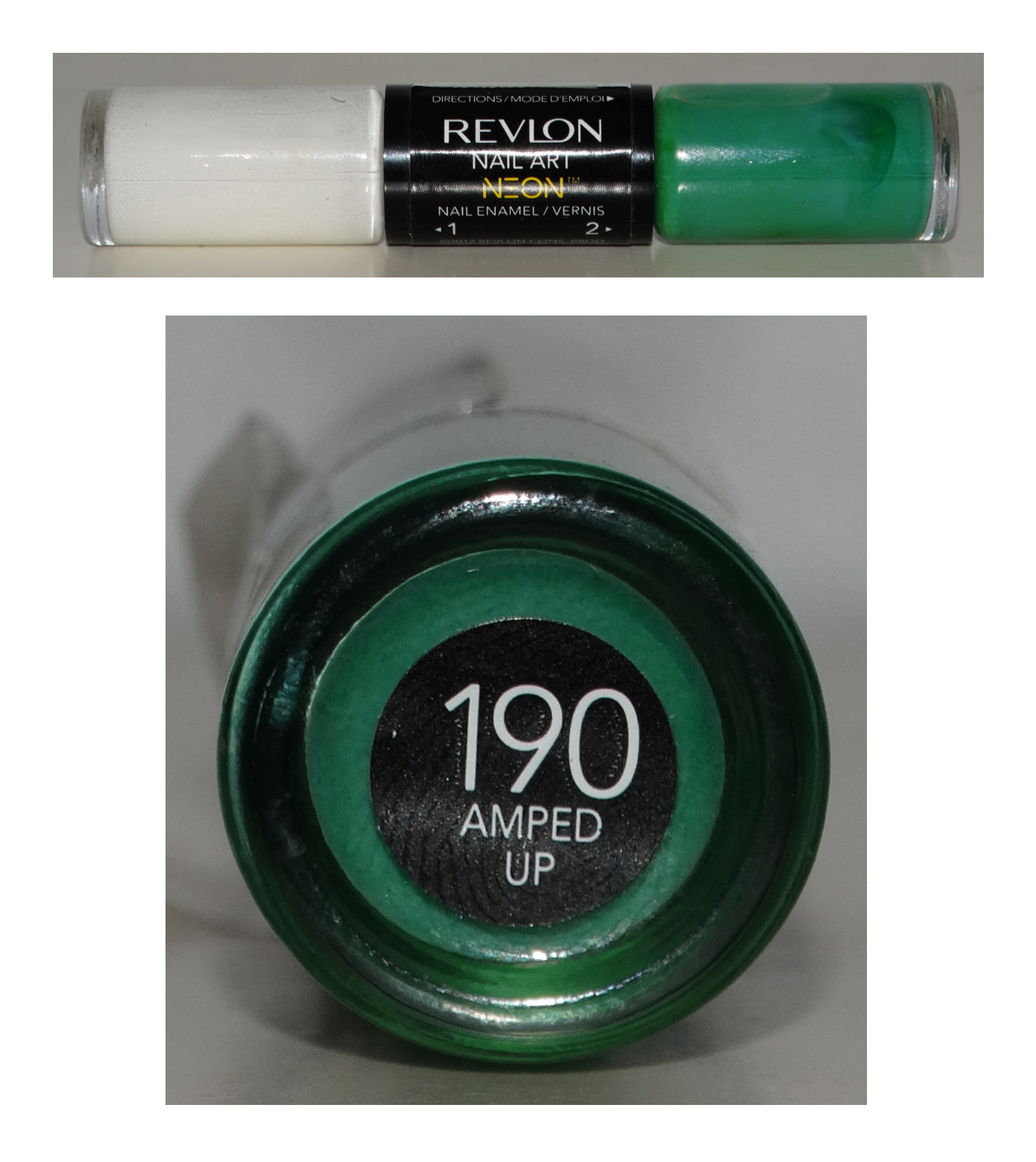 Revlon Nail Art Neon Amped Up Teal and White | Polish Collection ...
