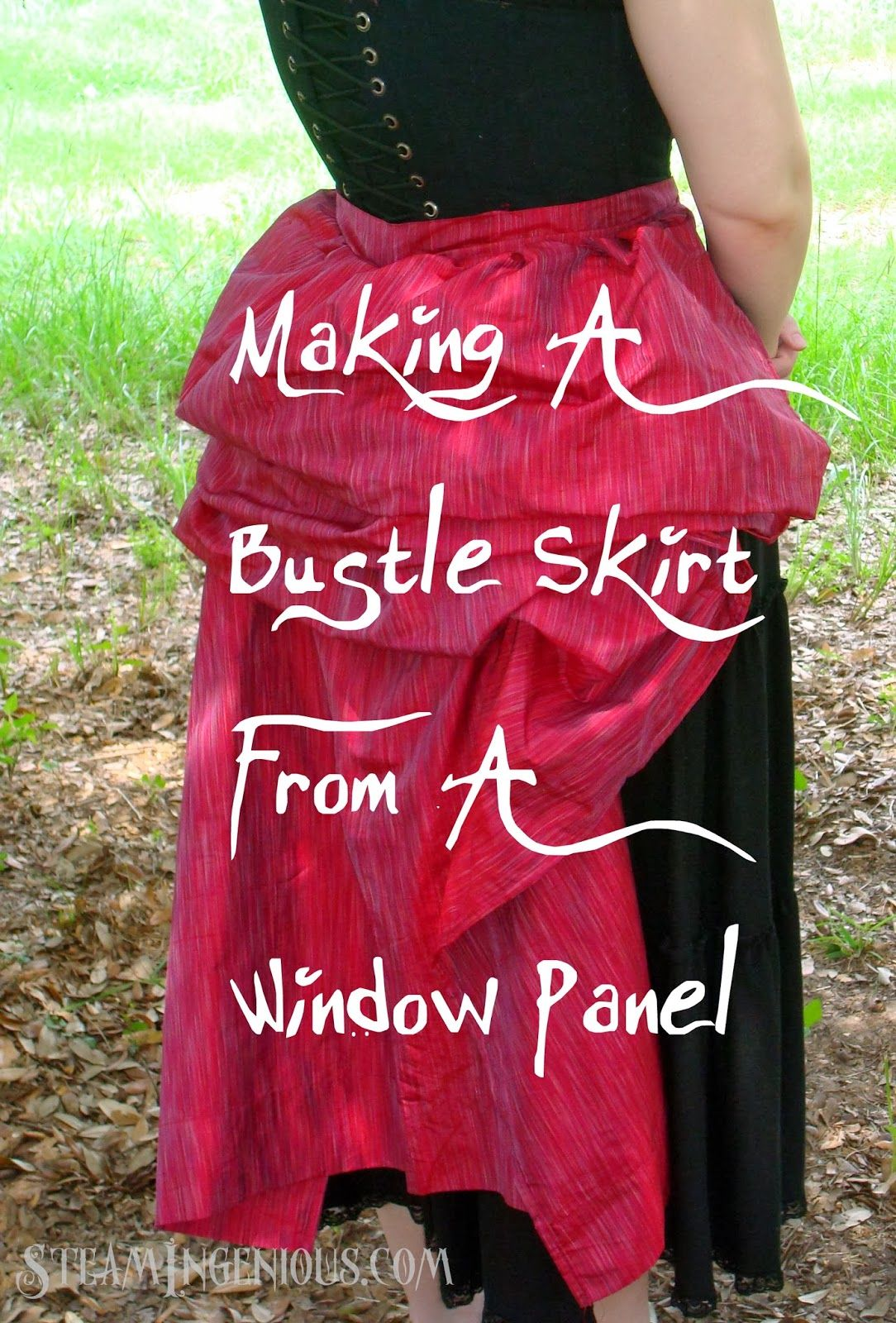Steam Ingenious Tutorial How To Make A Bustle Skirt From A Window Panel Steampunk Skirt Steampunk Diy Costume Victorian Costume