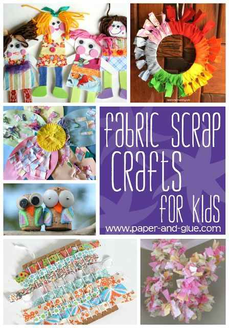 Fabric Scrap Crafts And Activities For Kids -   23 fabric crafts for kids to make ideas