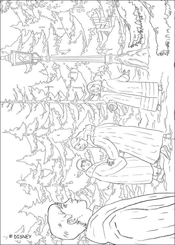 Peter, Lucy, Susan and Edmund in the magic forest - Coloring page ...