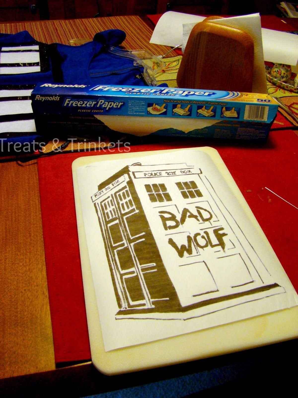 Treats & Trinkets: Freezer Paper Stencil Tutorial