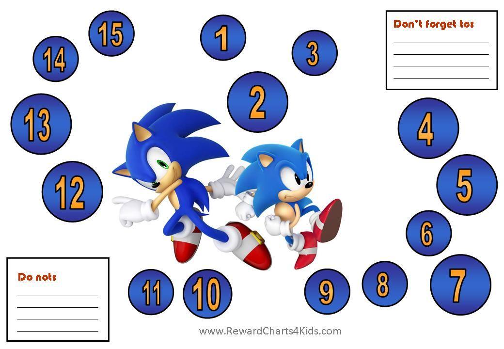 Sonic Behavior Charts 7 Jpg 1040 720 Behaviour Chart Sonic Reward Chart