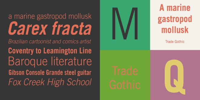 Trade Gothic Font Free Download | Fonts | Gothic font free