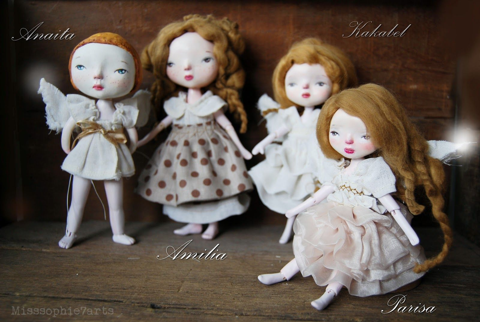 They are all handmade from paper clay
