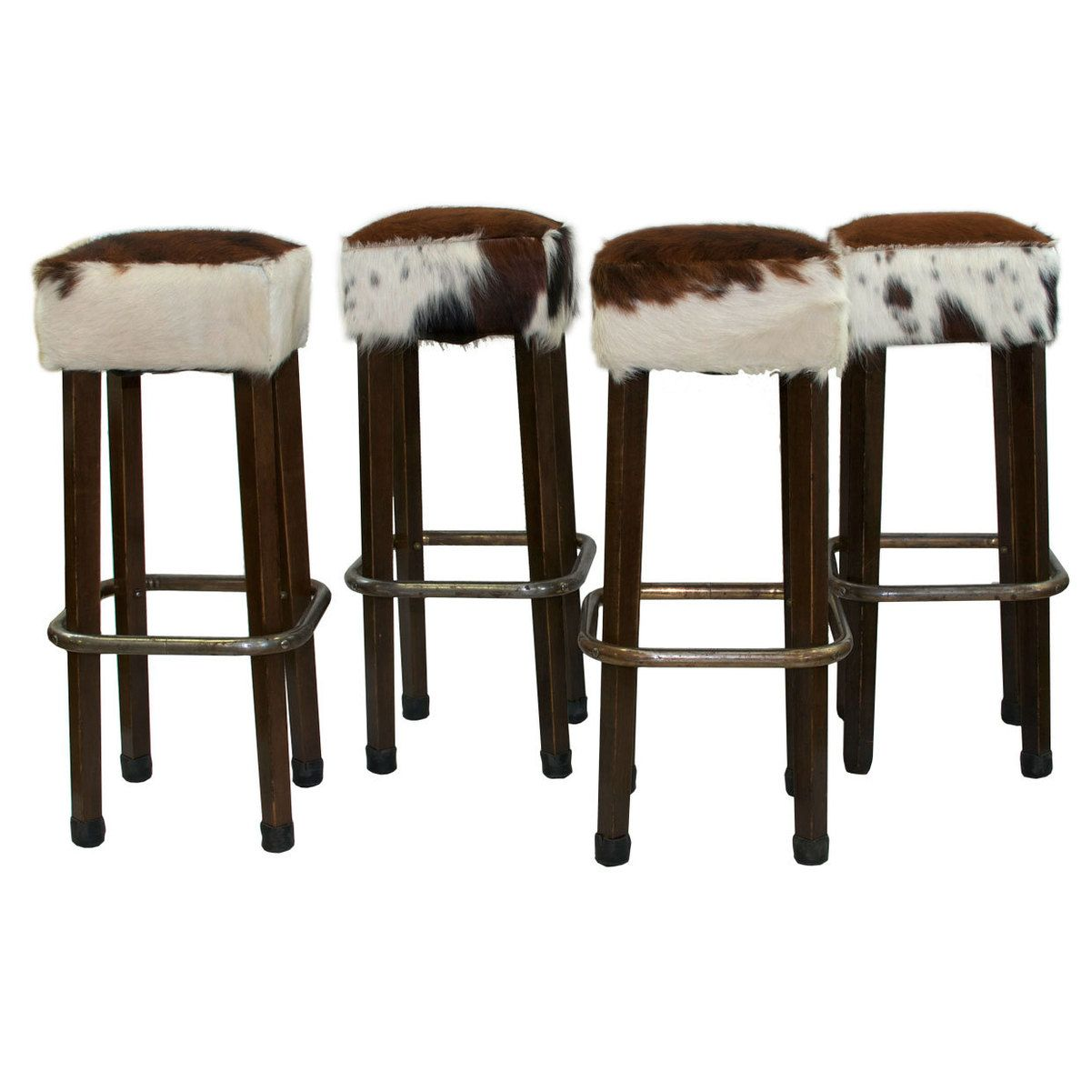 Rustikale Küchenstühle Cowhide Bar Stools Set Of 4 By Tiger Lily 39s Ideen Shop