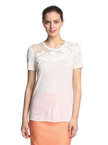 RED Valentino Women's Crochet Lace Top (White)